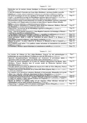 Sommaires des bulletins MAP-NEW-12